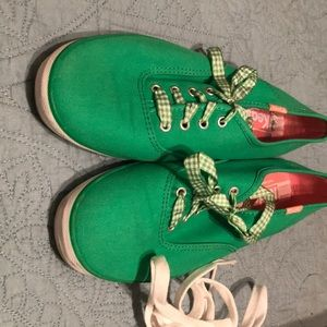 Keds bright green oxford style